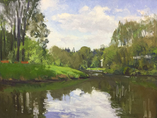 Painting: Sammamish River at Bothell Landing