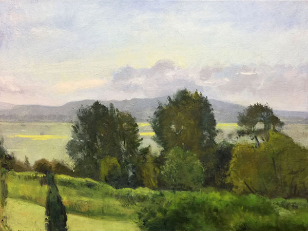 Painting: Snohomish Valley, Early Morning Late May