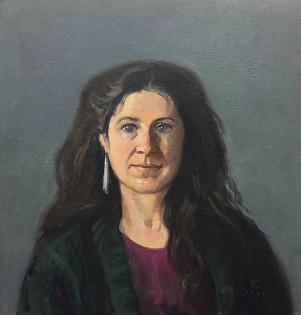 Painting: Christel I, oil on canvas, 23 x 22 inches, copyright ©1977