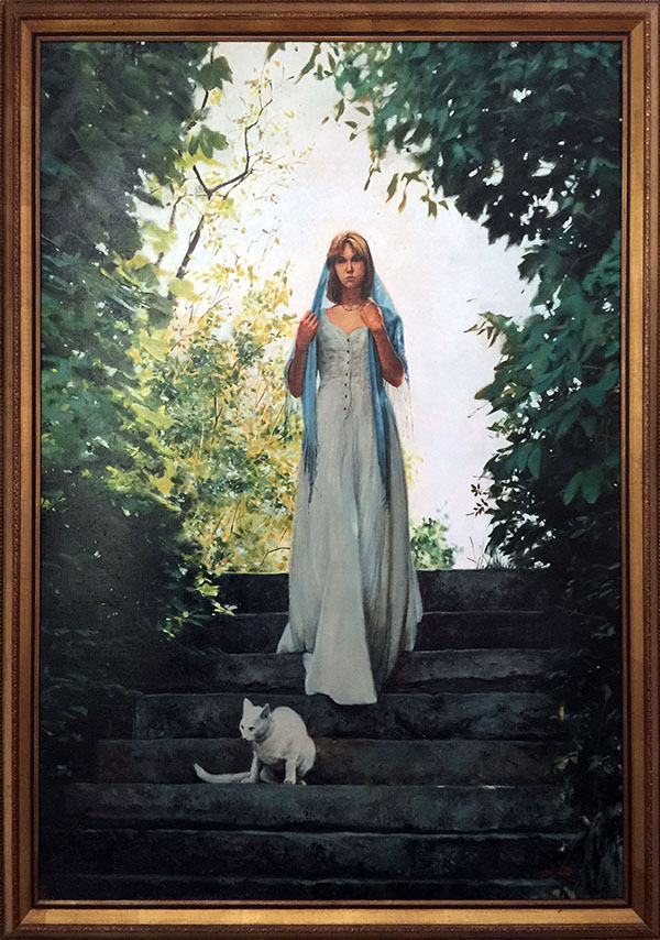 Painting: Apparition, oil on canvas, 47 x 33 inches, copyright ©1977
