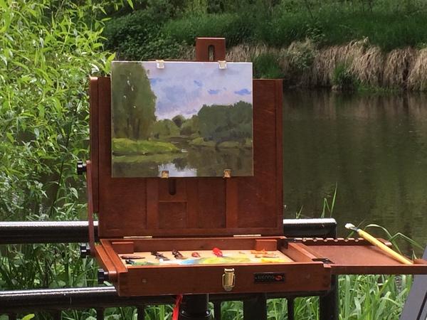 Photograph: Pochade box w/ small study on panel.