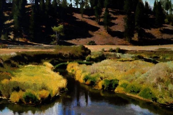 Moran Prairie, oil on canvas, size unknown , copyright ©1984