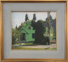 Vinegar Flats House, oil on canvas, size unknown, copyright © circa 1983