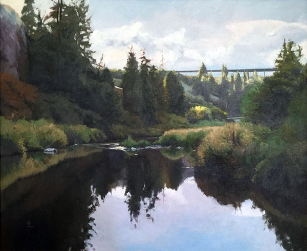 Latah Creek (Early Morning), oil on canvas, size unknown, copyright ©1982