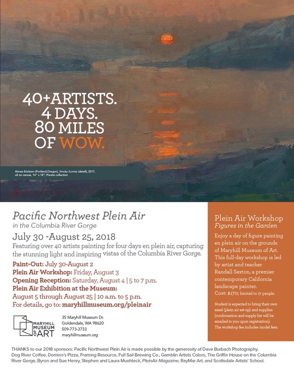Maryhill Museum PNW Plein Air 2018 Showcard