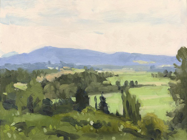 Snohomish Valley Apunte, oil on panel, 9 x 12 inches, copyright ©2018