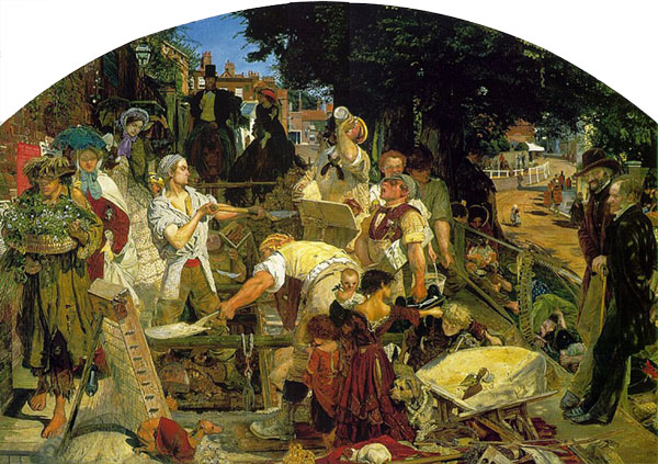 Work, Ford Madox Brown, oil on canvas, 53.9 in × 77.9 inches, 1895, Manchester Art Gallery, Manchester, England
