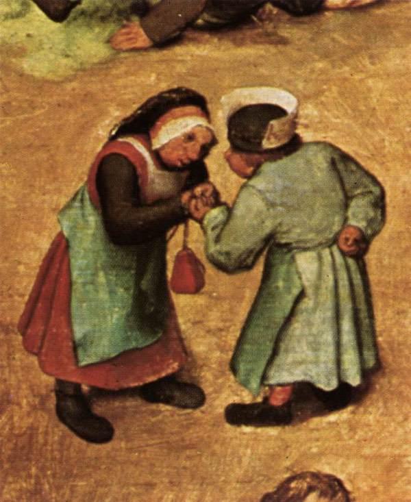 Children's Games, Pieter Bruegel the Elder, detail