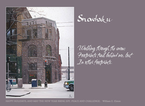 Snowhaiku Greeting Card