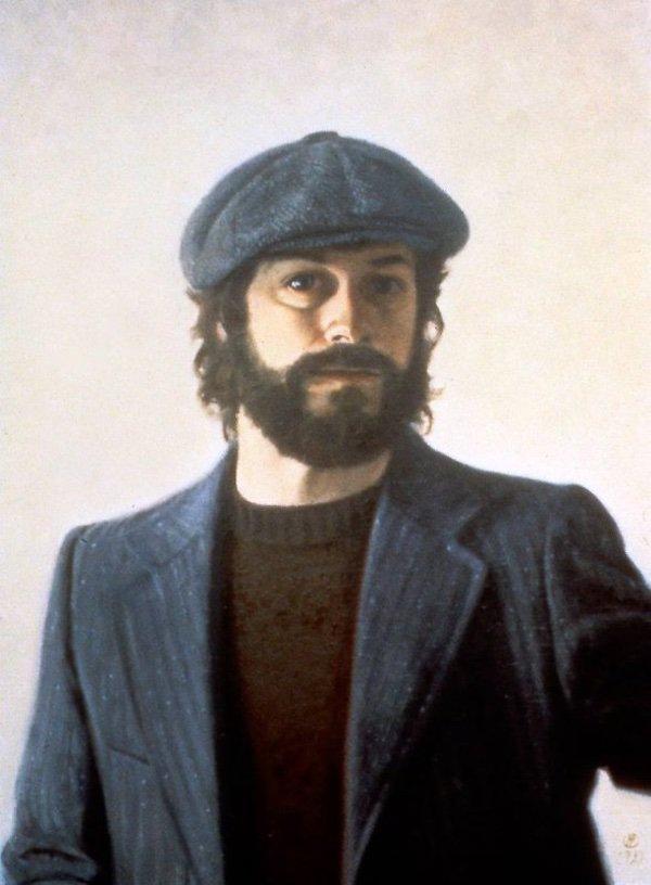 William E. Elston, Self Portrait, NYC, oil on canvas, 24 x 18 inches, copyright ©1979