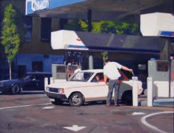 Gas, oil on canvas, 26 X 34 inches, copyright ©1996, $4,200