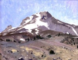 Mt. Hood Itself, oil on panel, 16 x 20 inches, copyright ©2018, $2,200