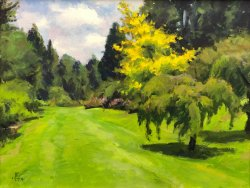 Azalea Way, oil on canvas, 12 x 16 inches, copyright ©1994, $2,200