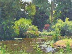 Arboretum Pond, oil on canvas, 18 X 24 inches, copyright ©2008, $3,600