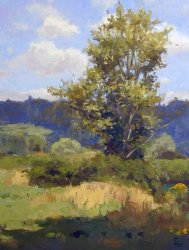 Tree Near Snoqualmie, oil on canvas, 24 X 18 inches, copyright ©1999, $3,600