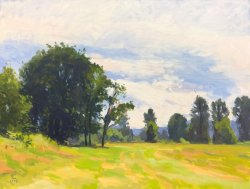 Grazing Field, oil on panel, 18 x 24 inches, copyright ©2005, $2,600