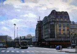 Near the Gare D'Lest, oil on canvas, 52 X 72 inches, copyright ©2004, $12,500