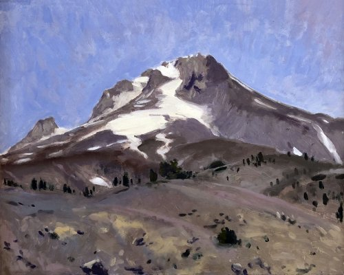 Mount Hood, Itself, oil on panel, 16 x 20 inches, copyright ©2018