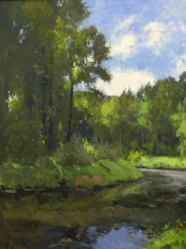 Bothell Landing 3, oil on canvas, 24 x 18 inches, copyright ©2016