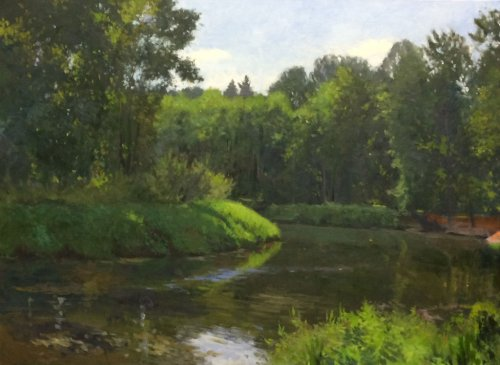 Bothell Landing, oil on canvas, 30 x 40 inches, ©2014