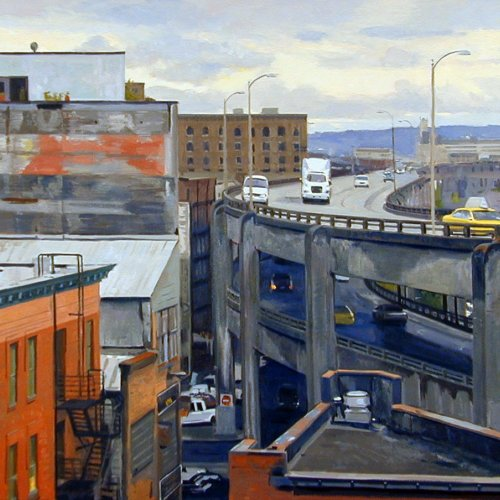 Civil Architectures, oil on canvas, 42 x 60 inches, copyright ©1999