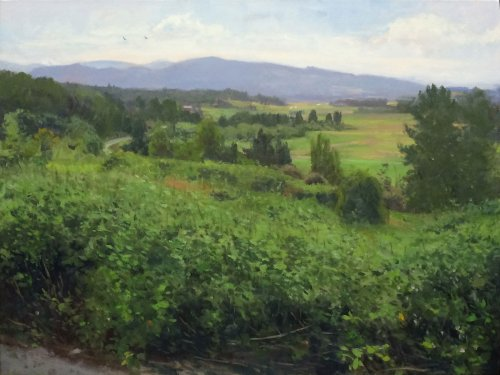 Snohomish Valley, Looking East, oil on canvas, 36 x 47 inches, copyright ©2015