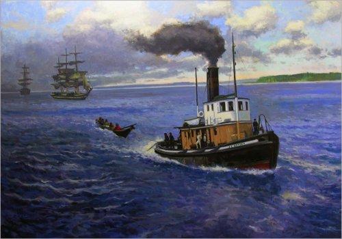 J. E. Boyden, oil on canvas, 42 x 60 inches, copyright ©2012