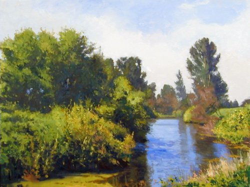 Sauvie Island Creek I, oil on canvas, 30 X 40 inches, copyright ©1999