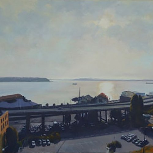 99 (Elliott Bay), oil on canvas, 44 x 54 inches, copyright ©1985