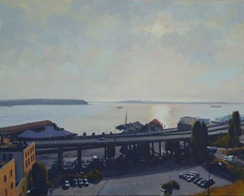 99 (Elliott Bay), oil on canvas, 44 x 54 inches, copyright ©1985