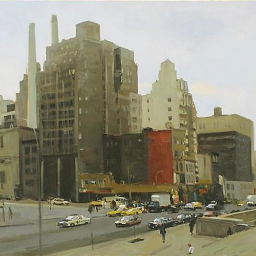 Big Dirty City (On 8th Ave, NYC), oil on canvas, 27 x 31 inches, copyright ©1997