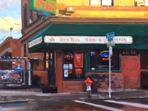 My Old Haunt 2, oil on panel, 18 x 24 inches, copyright ©2019