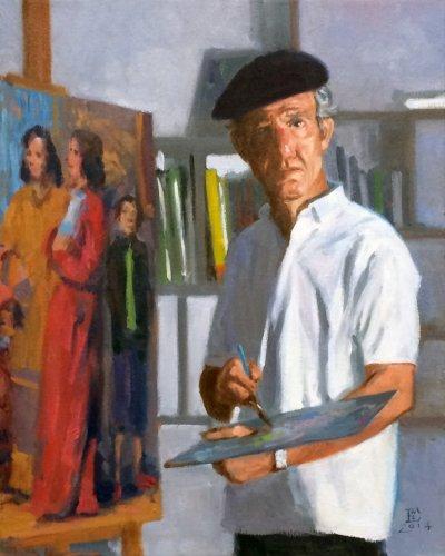 Portrait of Alvaro Izurieta: My Friend and Colleague, oil on canvas, 20 x 16 inches, copyright ©2014