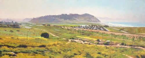 Near San Diego, oil on canvas, 12 x 30 inches, copyright ©1986