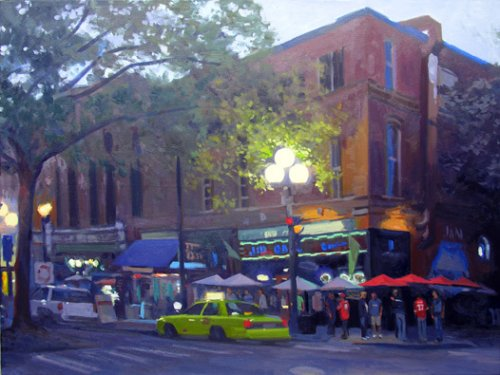 J & M At Dusk, oil on canvas, 30 x 40 inches, copyright ©2011