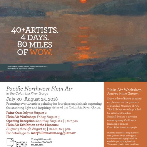 Pacific Northwest Plein Air 2018 Maryhill Museum card