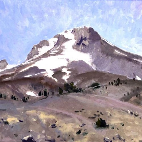 Mt. Hood Itself, oil on panel, 16 x 20 inches, copyright ©2018