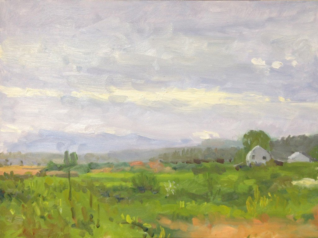 Snohomish Valley, oil on panel, 9 x 12 inches, ©2012