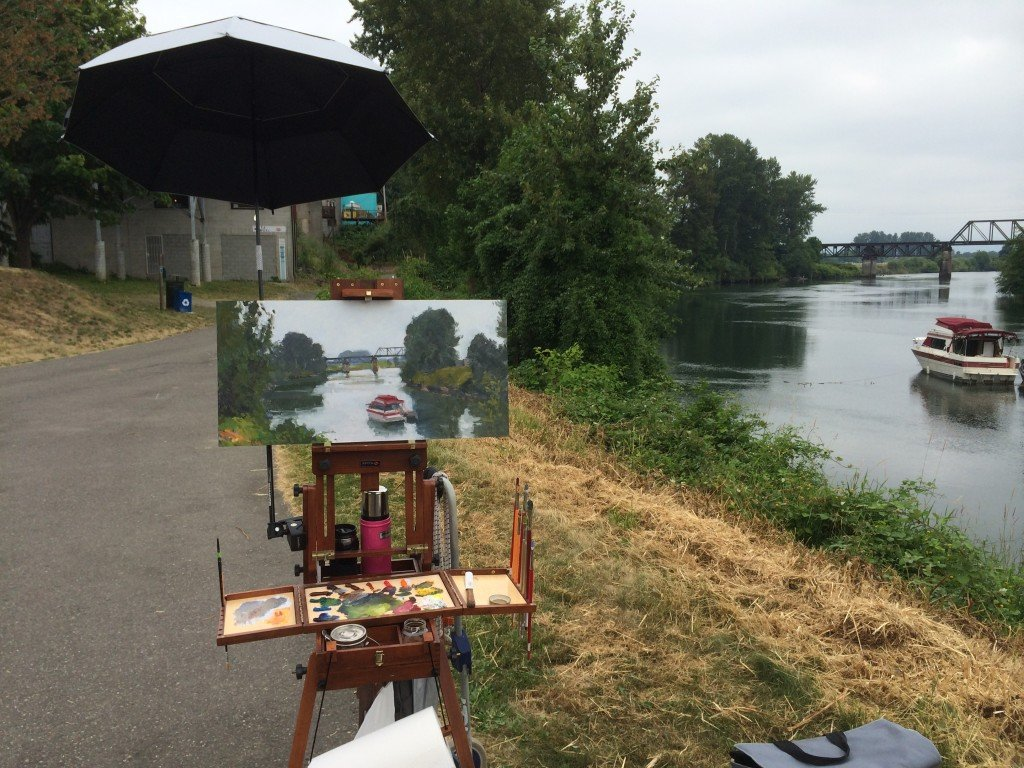 Plein Air at Kla Ha Ya Riverfront Park, Snohomish.