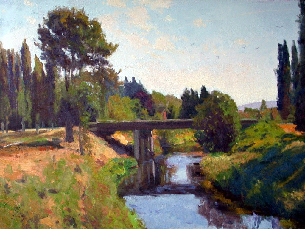 Marymoor Park, oil on canvas, 30 x 40 inches, copyright ©2003