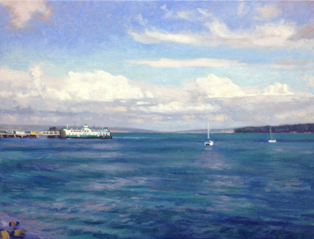 Port Townsend Ferry, oil on canvas, 18 x 24 inches, copyright ©2013