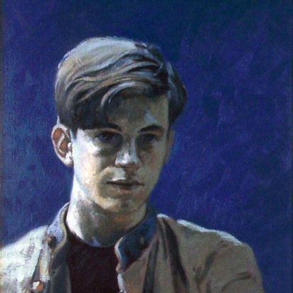 Portrait of the Artist as a Young Man (self at 17 yrs.), oil on canvas, 26X18 in, copyright ©1983