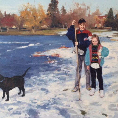 Val and Peggy's Kids, oil on canvas, 26 x 32 inches, copright ©1992