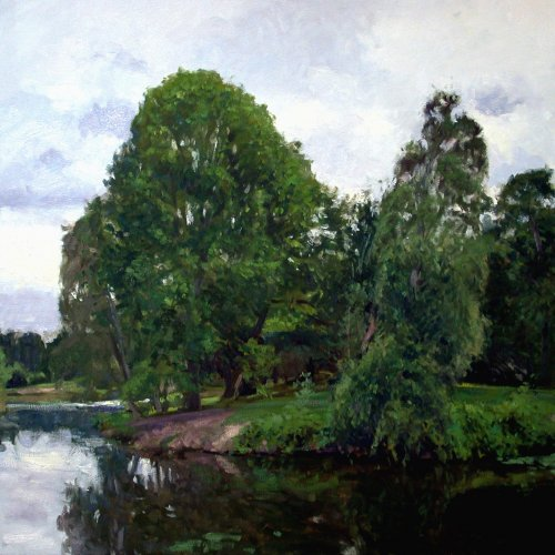 Arboretum, oil on canvas, 36X36 inches, copyright ©2002