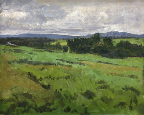 Snohomish Valley Apunte, oil on panel, 16 x 20 inches, copyright ©2019