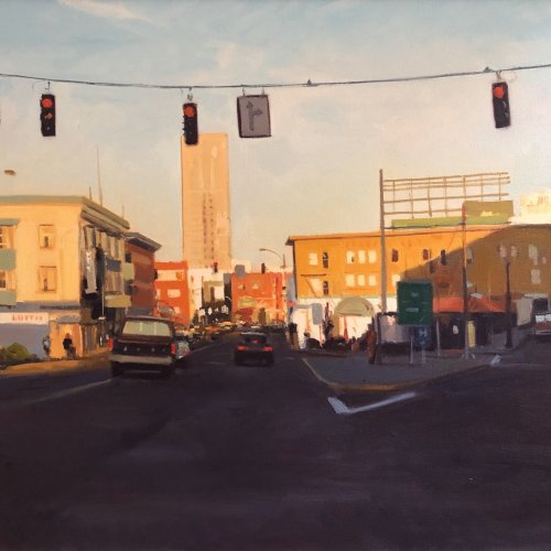 Signs And Signals, oil on canvas, 30 x 40 inches, copyright 1991