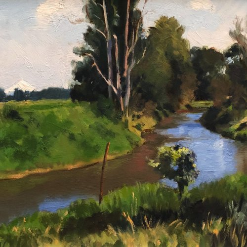 Sauvie Island Creek, oil on canvas, size unknown, copyright ©1990