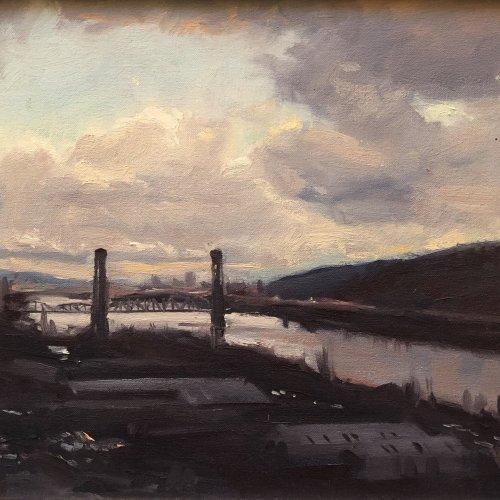 Bridge (St. John), oil on canvas, size unknown, copyright ©1991