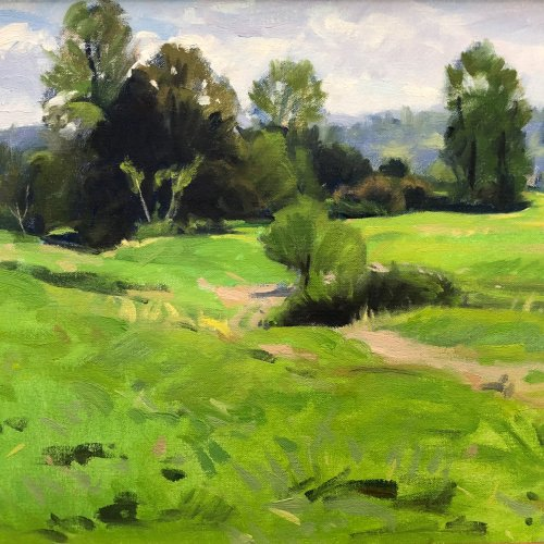 Small Farmland, oil on canvas, 12 x 16 inches, copyright ©1993