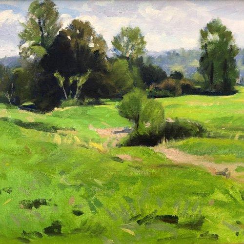 Small Farmland, oil on canvas, 12 x 16 inches, copyright ©1993
